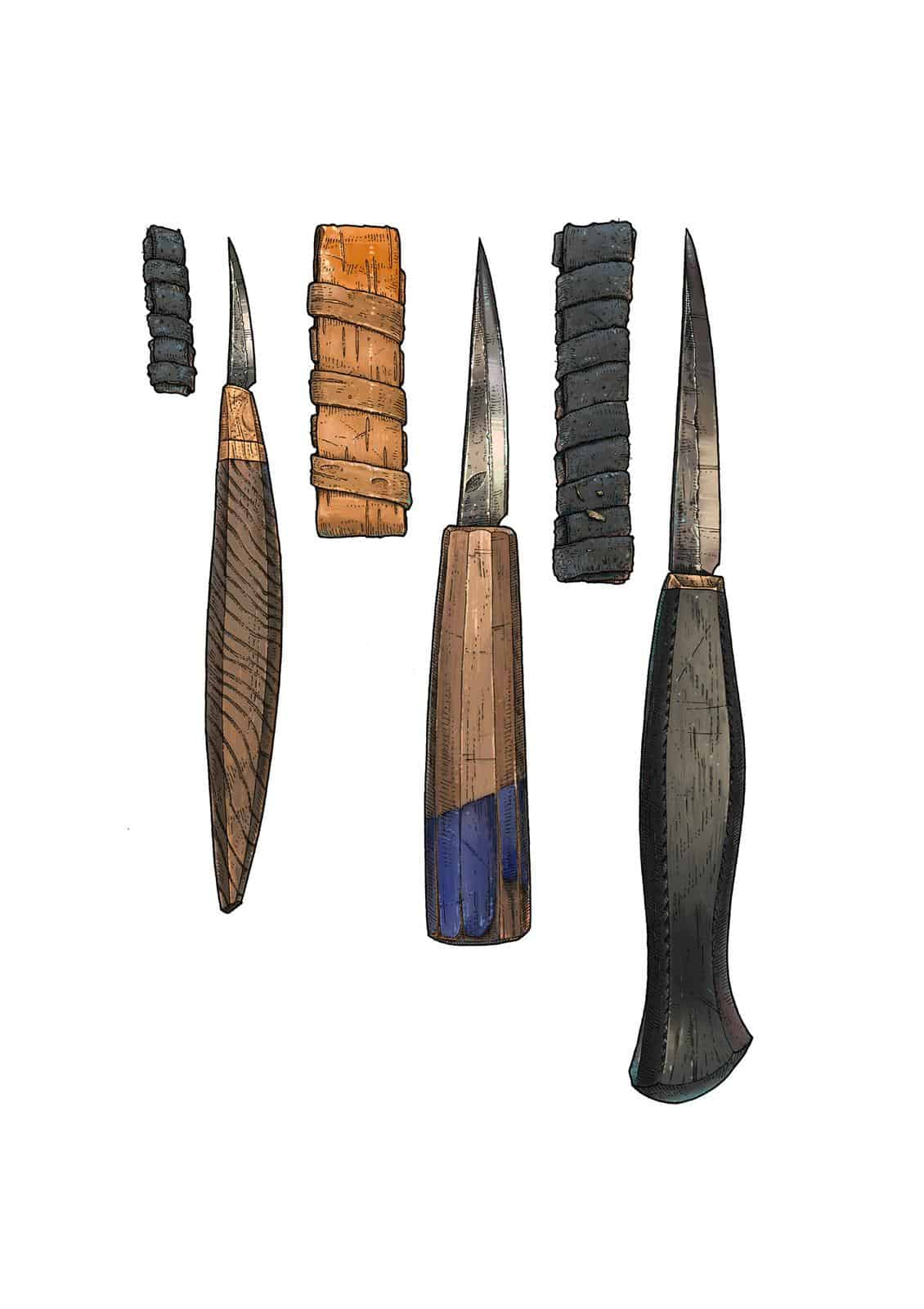 Lee John Phillips - Carving Knives
