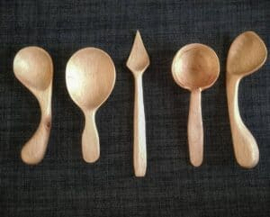 1. Juan Fco Galindo Hand Carved Wooden Spoon