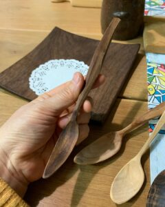 101. 2 Swords Person Hand Carved Spoons