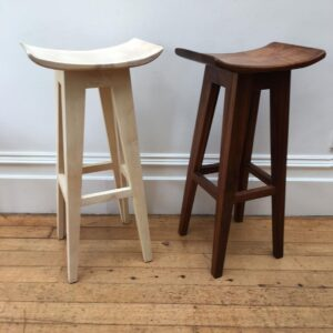 106. 2 Robert Carter Hand Carved Wooden Spoon Stool