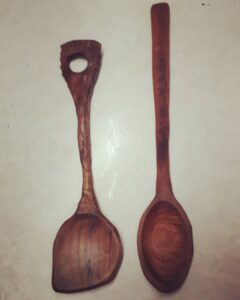 117. 3 Pablo Iglesias Hand Carved Wooden Spoon