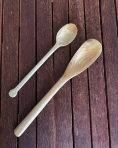 144. Alberto Barone Hand Carved Wooden Spoon
