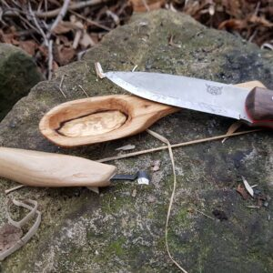 169. 2 The Traditional Countryman Hand Carved Wooden Spoon