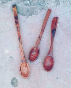190. 5 Pablo Iglesias Hand Carved Wooden Spoon