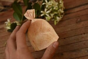 193. 1 Woodwork By Ananda Hand Carved Wooden Spoon