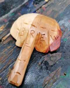 241. 1 Woodcraft And Water Hand Carved Wooden Spoon