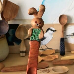315. 3 Patrice Spoons By Nature Hand Carved Wooden Spoon