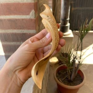 339. 9 Stephanie Leyland Hand Carved Wooden Spoon