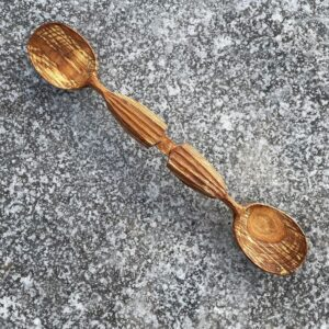 34. 3 Joshua Toni Lee Hand Carved Wooden Spoon