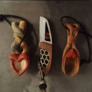 348. Ved O Lera Hand Carved Wooden Spoon