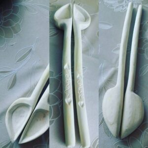 349. Vengrian Hand Carved Wooden Spoon