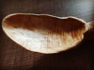 373. 1 Tite Dede Hand Carved Wooden Spoon