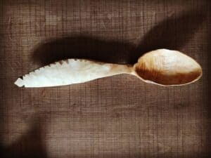 373. 3 Tite Dede Hand Carved Wooden Spoon