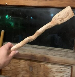 41. 2 Andy Dietrich Hand Carved Wooden Spoon
