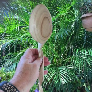 411. 4 Mary Ellen Hand Carved Wooden Spoon