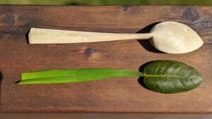 418. 3 Kaylyn Messer Hand Carved Wooden Spoon