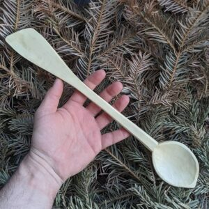 419. 5 Florian Hand Carved Wooden Spoon