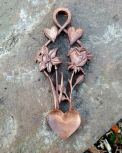 43. 5 Dryad Woodcraft Hand Carved Wooden Spoon