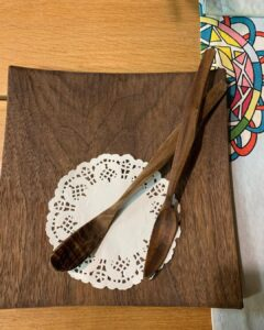 57. 5 Swords Person Hand Carved Wooden Spoon